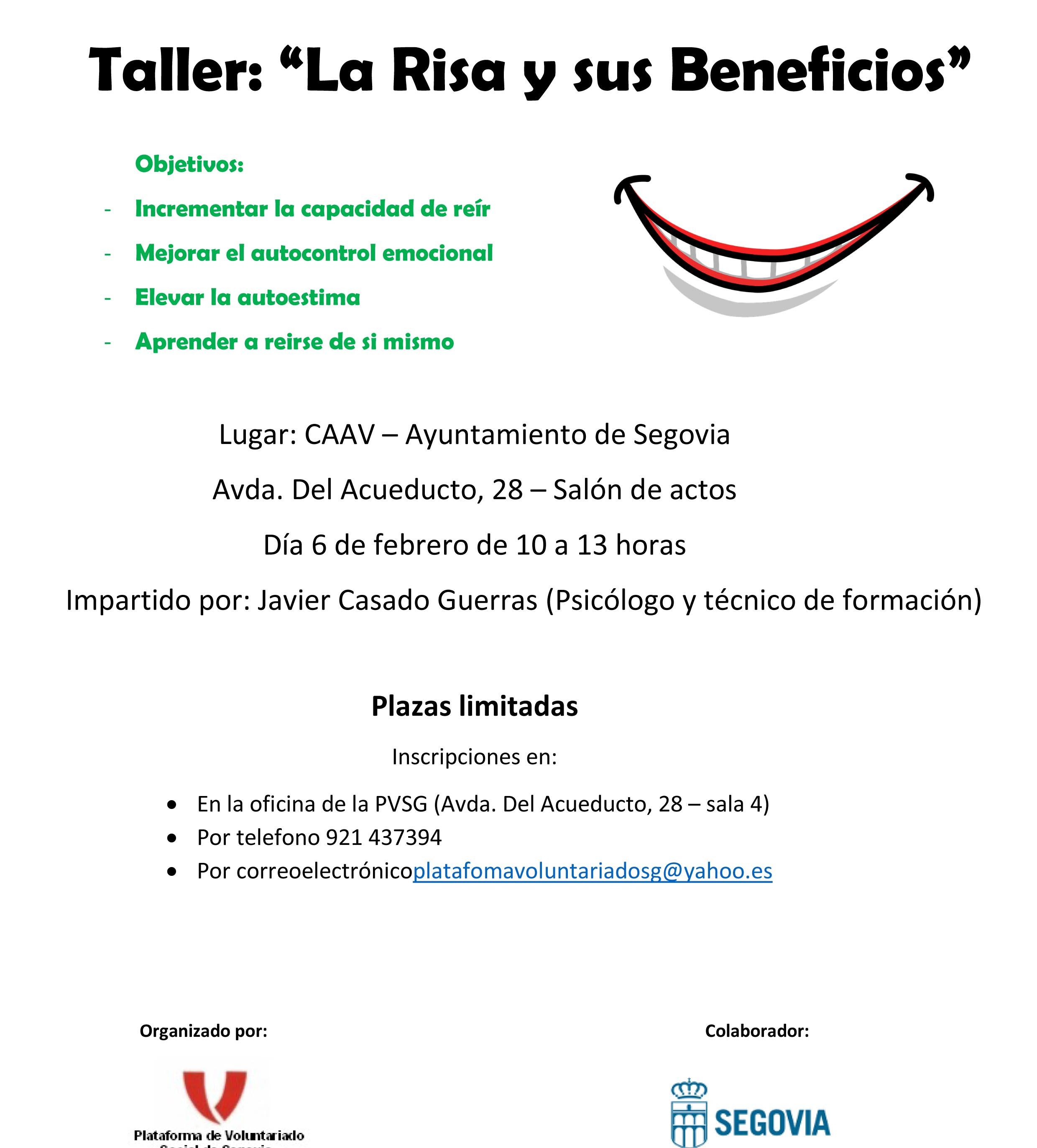 Taller de risoterapia-Cartel
