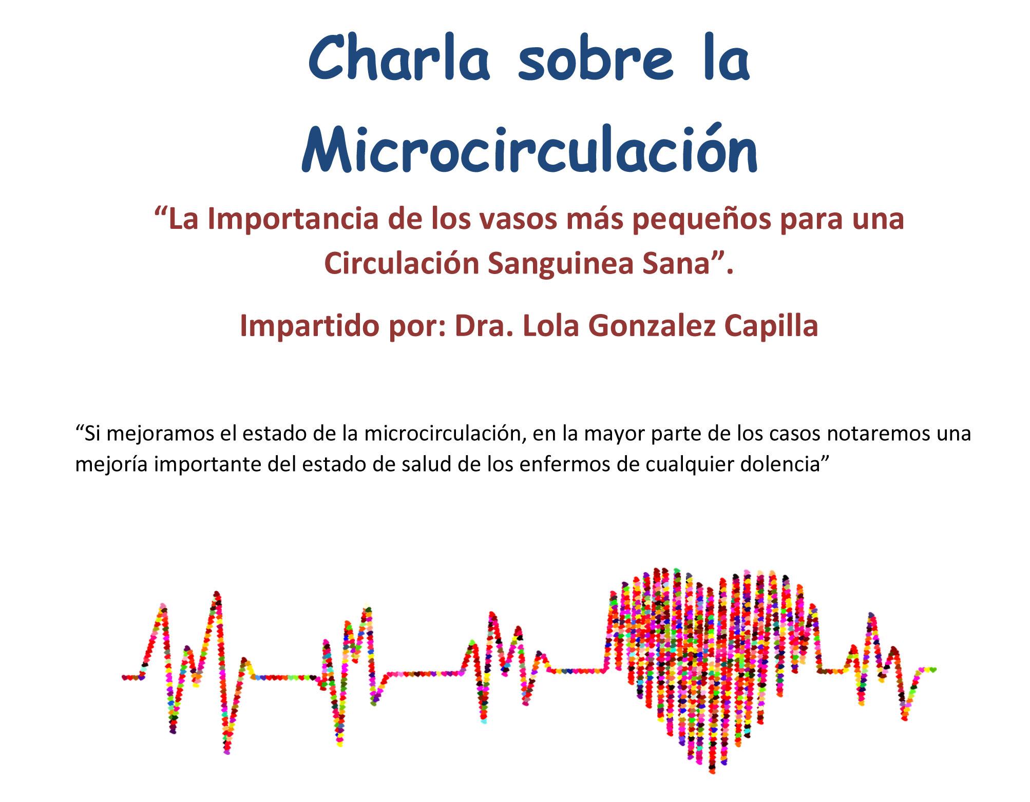 Charla microcirculación sanguínea