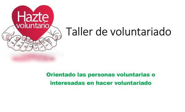Taller Voluntariado